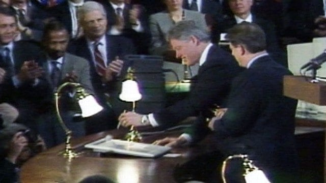 President Clinton Signing The 1996 Telecommunications Act