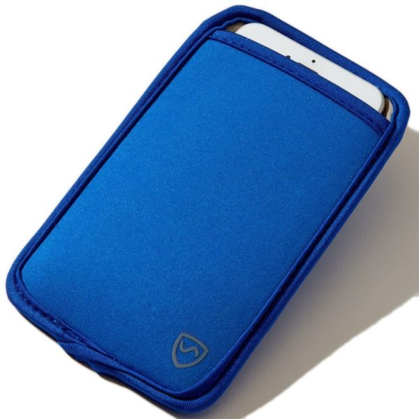 Extra Large Blue SYB Phone Pouch to Shield Cell Phone EMF Radiation