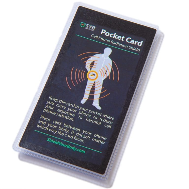SYB Pocket Card to Shield Cell Phone EMF Radiation