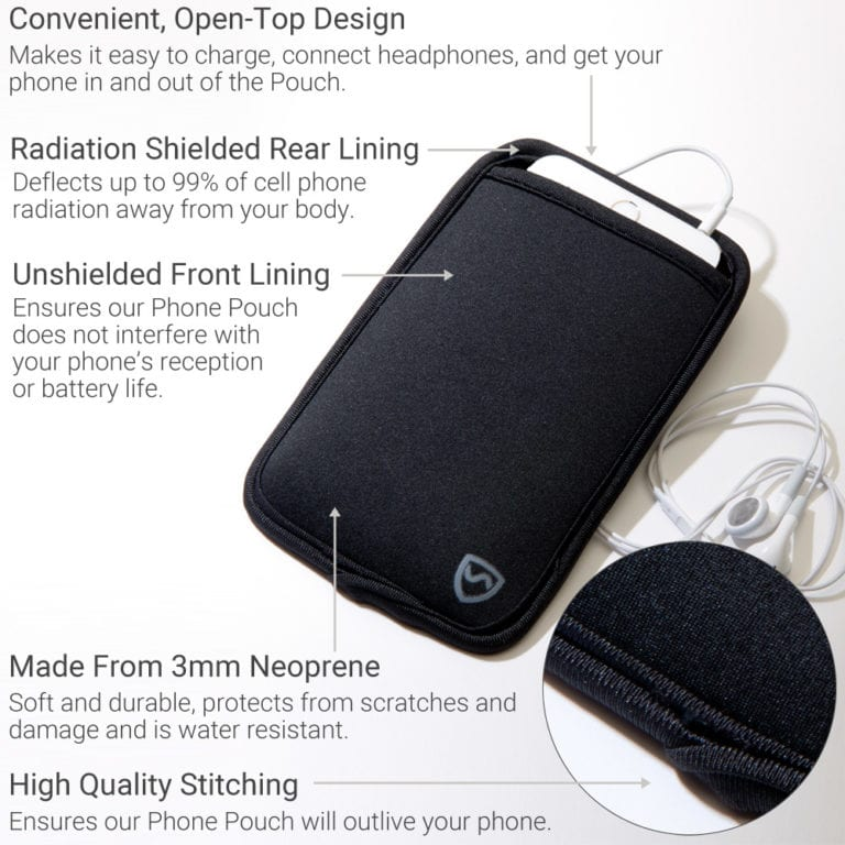 SYBPhone Pouch, Neoprene Cell Phone EMF Protection Sleeve