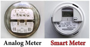 A Smart Meter and An Analog Meter