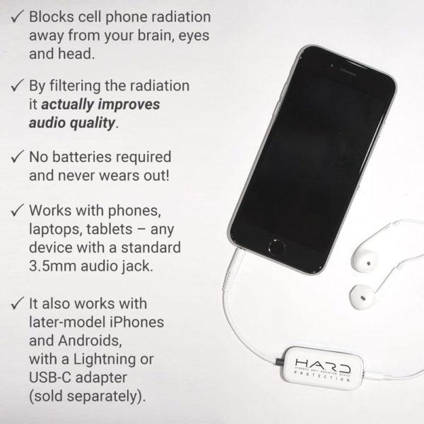 SYB HARD Anti Radiation Headset Shield, Air Tube Alternative