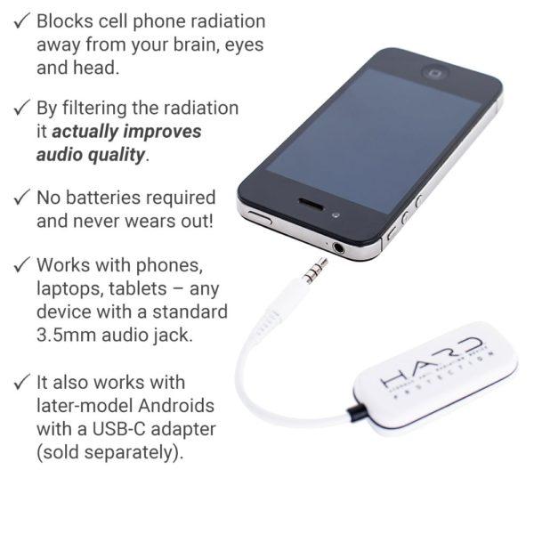 SYB Anti Radiation Headset Shield, Air Tube Alternative