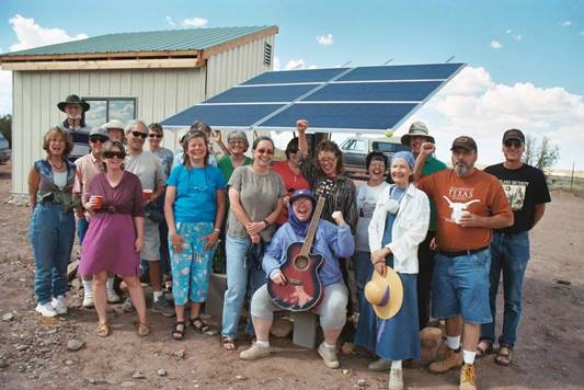 residents of the snowflake community EMF free zone in Arizona