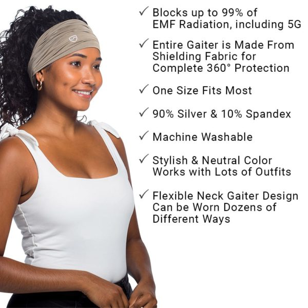 SYB Neck Gatier, 90% Silver EMF Protection