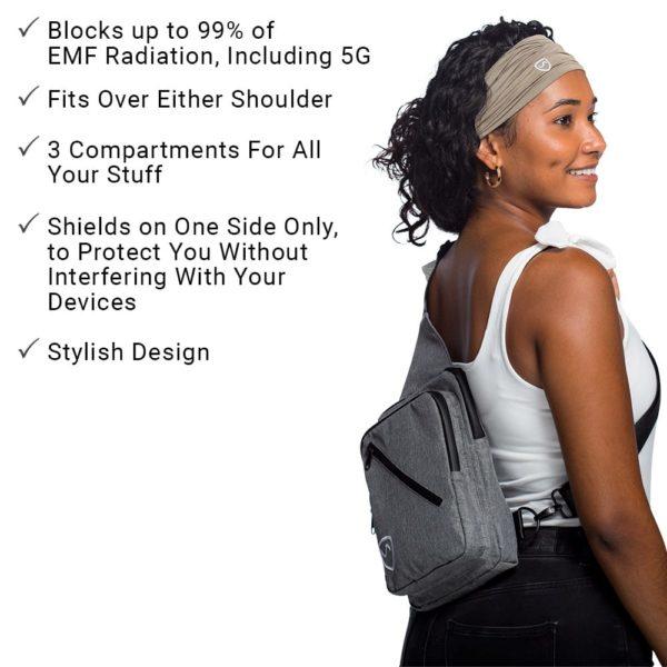 SYB Sling Bag, EMF & 5G Protection Carrying Case