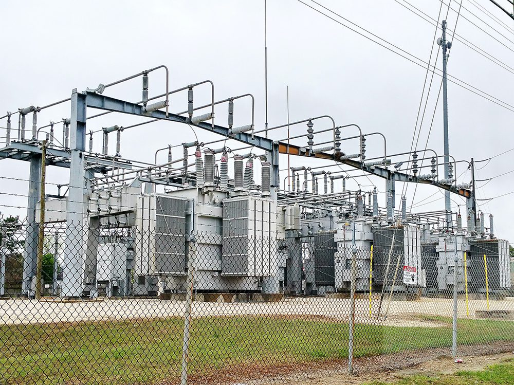 Earthing and ground currents: electrical substation