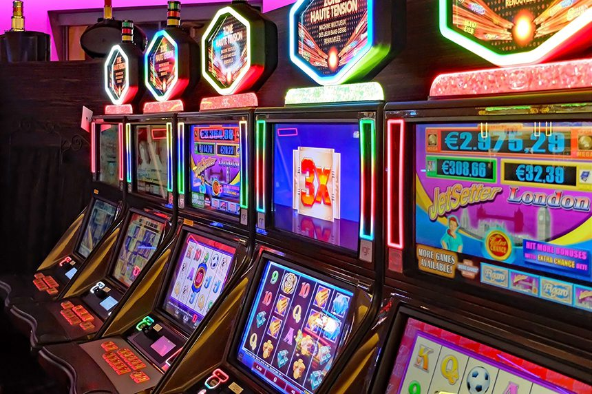 Slot machine - tech addiction and EMF exposure are linked because devices are designed to be addictive.